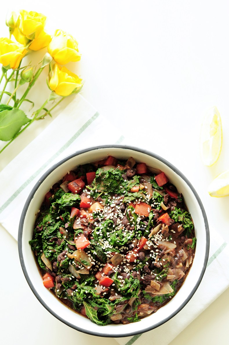 This hearty and filling black bean salad is not only the perfect side dish to your meat course but a great main dish for vegetarians.