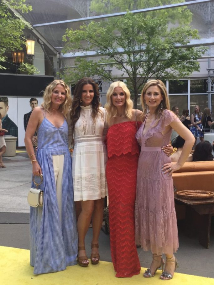 My RewardStyle Conference Looks// Dallas Style Blogger// Sea Lace Long Sleeve Dress// Marion Parke Platform Sandals// Rebecca de Ravenel earrings