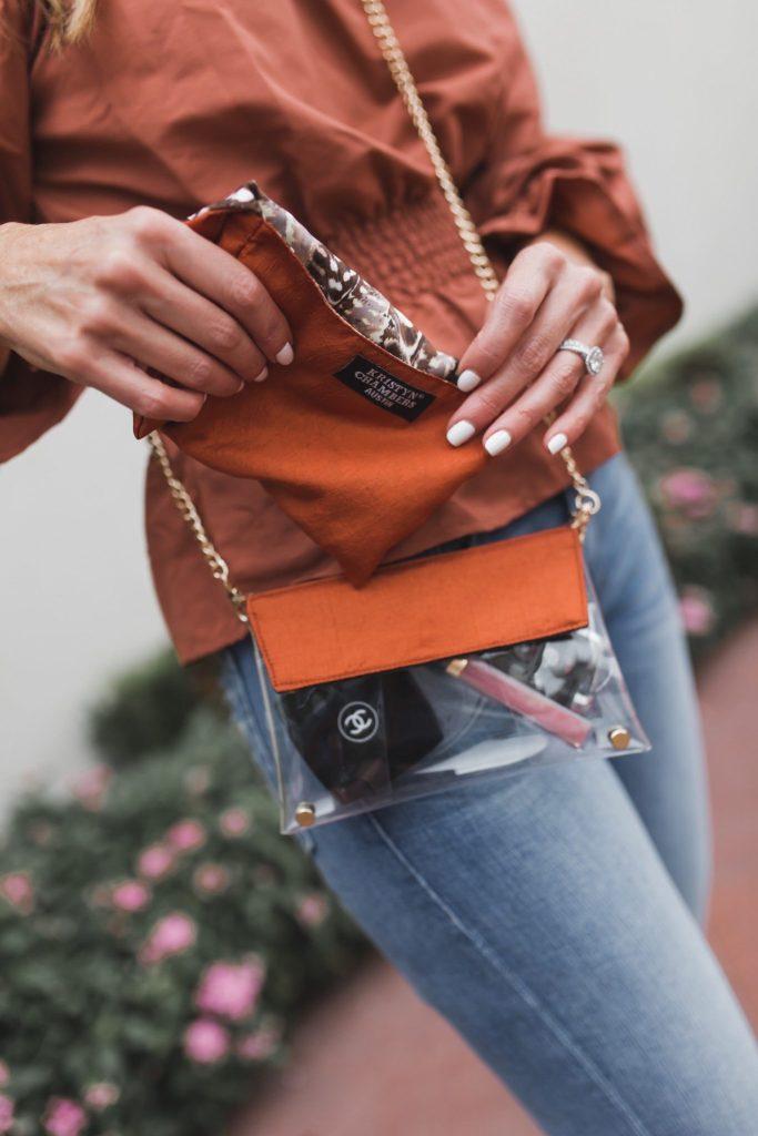 Kristyn Chambers Clear Victory Bag || TULAROSA X REVOLVE KATIE BLOUSE ||