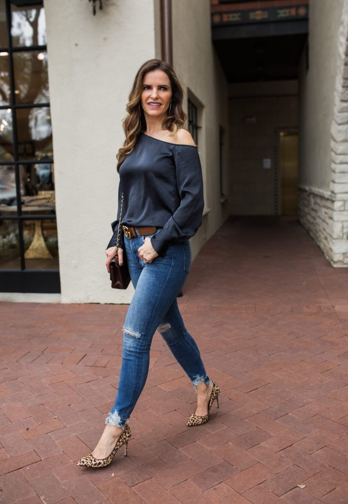 Satin One-Shoulder Blouse | Street Style Squad