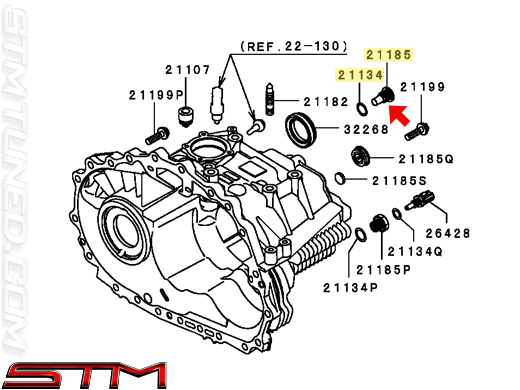 STM: OEM MITSUBISHI 6-SPEED TRANSMISSION FILL PLUG