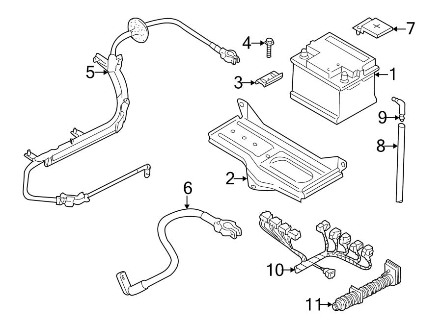 Volkswagen Passat 2.8L VR6 V6 M/T FWD Battery holder