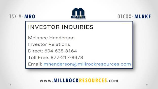Millrock Resources | Explorer releases drill results from