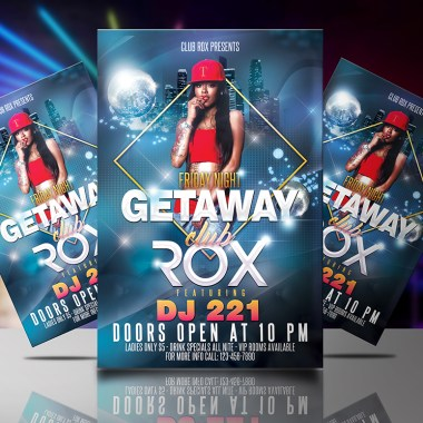 Club Rox Flyer Template