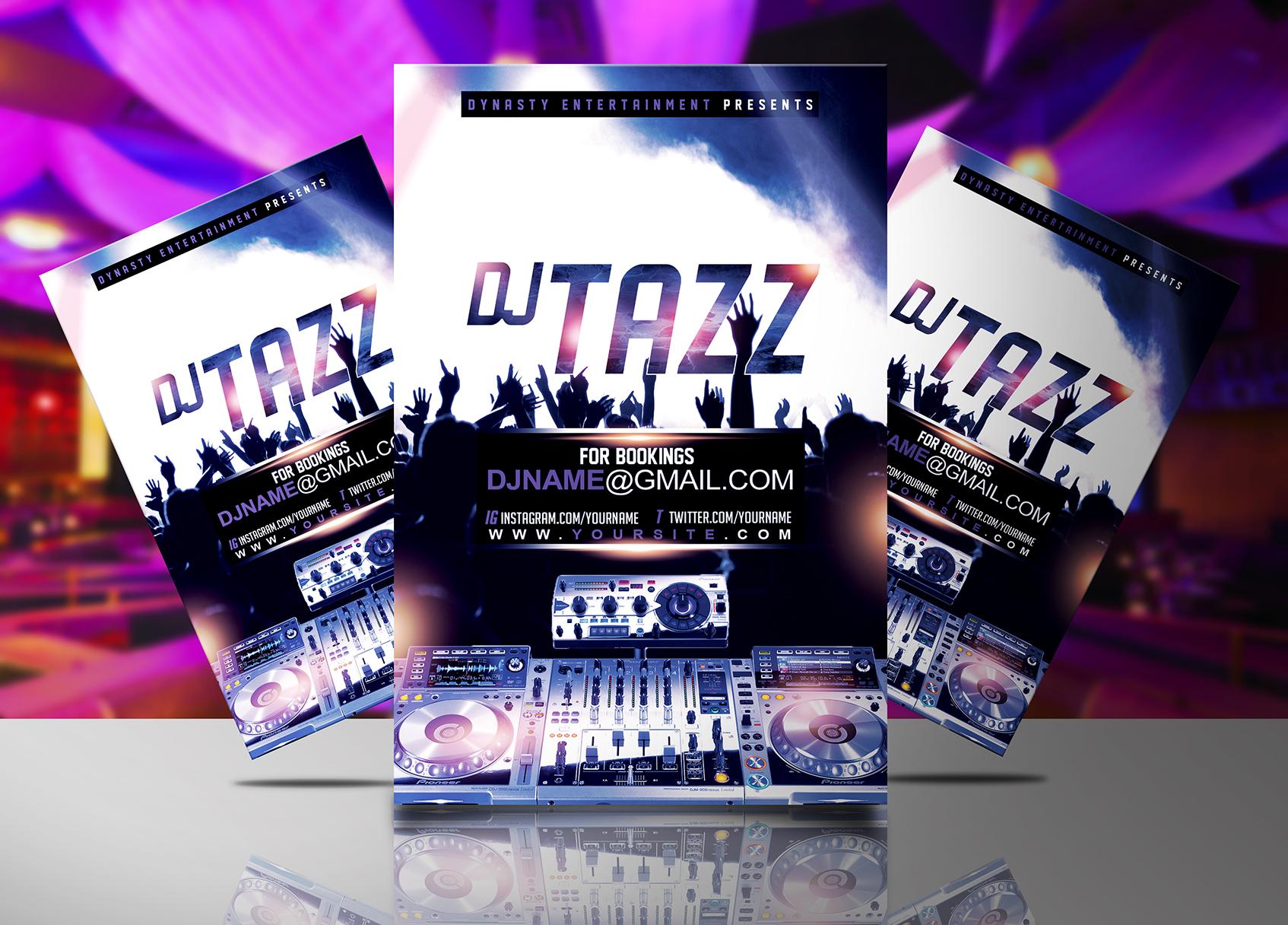 DJ Tazz Flyer Template   Streetz Myestro Beats