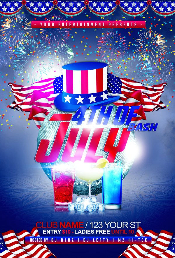 4th of July Bash Flyer Template