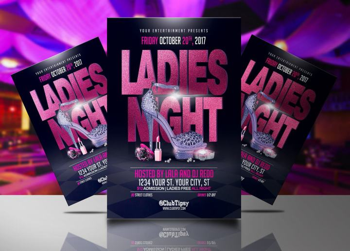 Ladies Night Free Flyer Template