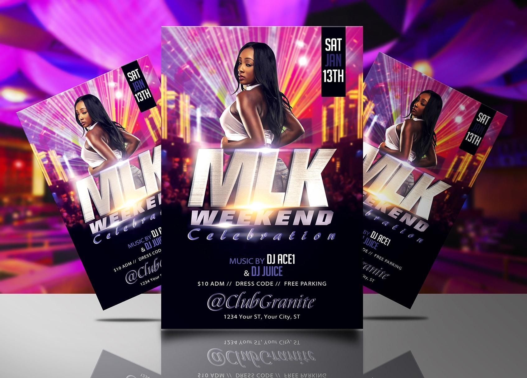 MLK Weekend Celebration Flyer Template Streetz Myestro Beats