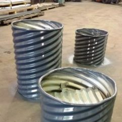 Corrugated Steel Chair Rail Coleman Deck Specialty Products Guard Rails Campfire Rings Plastic Plant Containers