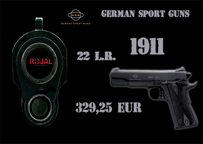 Znižane cene pištol 1911 nemškega proizvajalca GSG