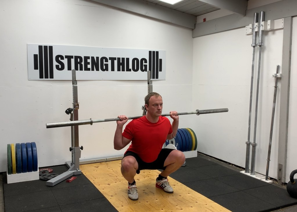 Squat with narrow stance