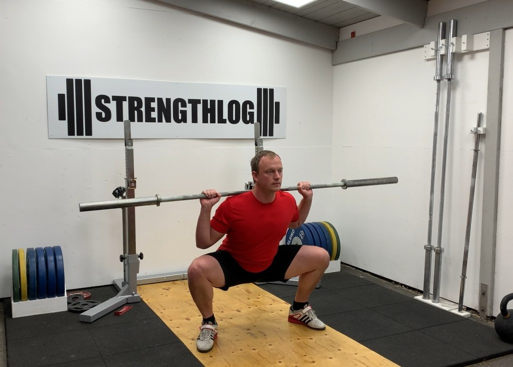 Squat with wide stance