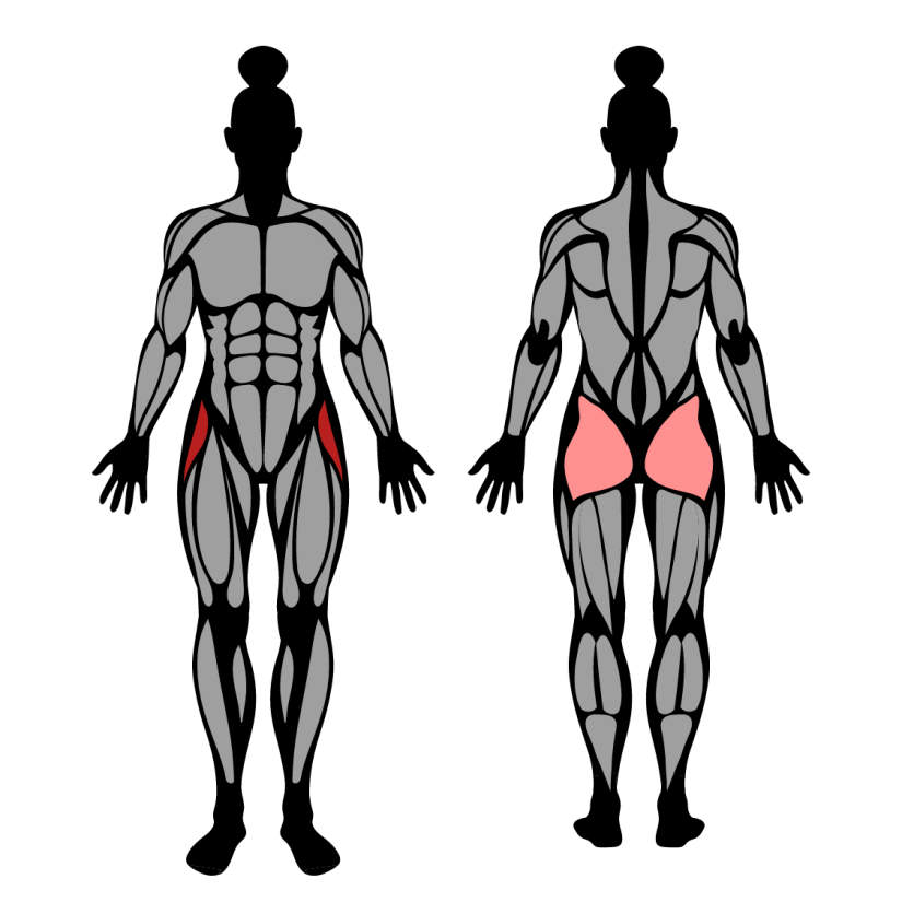 Muscles worked by banded side kicks