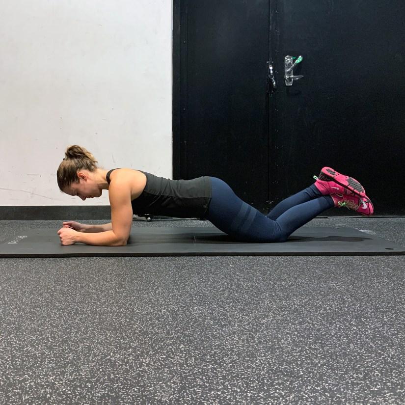 Kneeling plank exercise