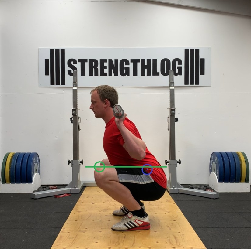 Powerlifting squat depth