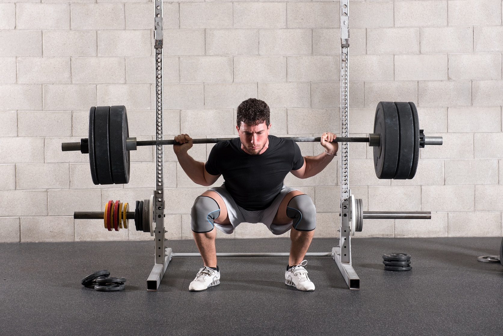 Deep barbell squat
