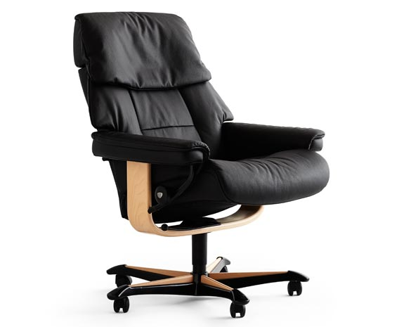 desk chair recliner sofa sleeper leather chairs scandinavian comfort recliners stressless ruby office