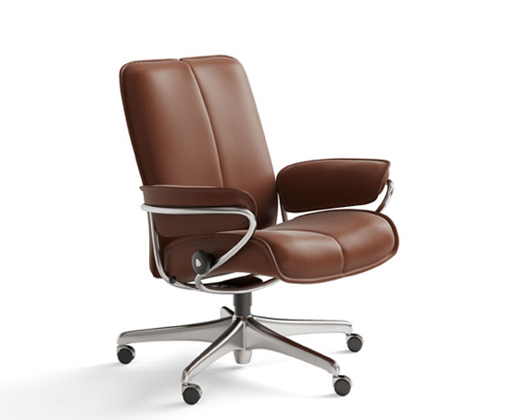 leather chair office ergonomic kneeling posture chairs from stressless city low back