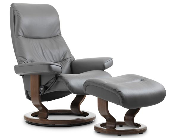 reclining chair with ottoman leather serta warranty recliner chairs scandinavian comfort recliners stressless view classic