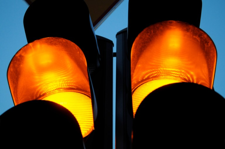 Slow down for orange lights, particularly for performance, attitude or relational issues