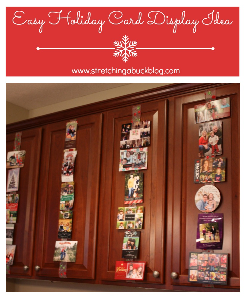Quick And Easy DIY Holiday Christmas Card Display Idea