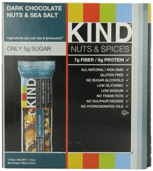 KIND Nuts amp Spices Dark Chocolate Nuts amp Sea Salt Bars