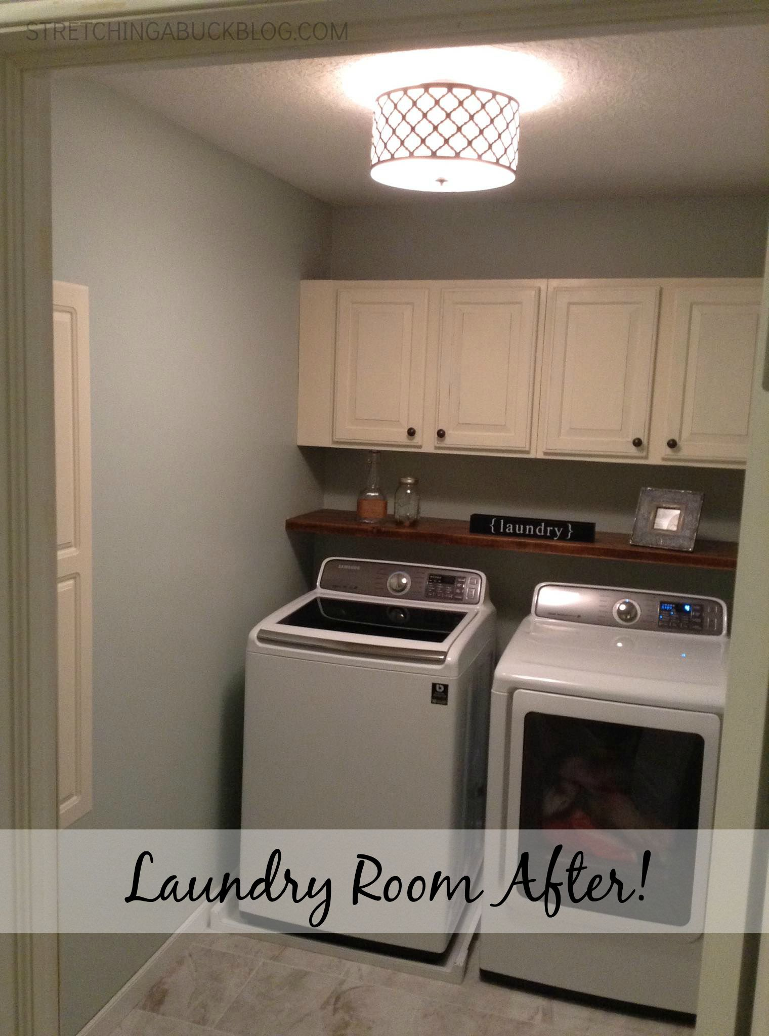 DIY Laundry Room Makeover  Stretching a Buck  Stretching