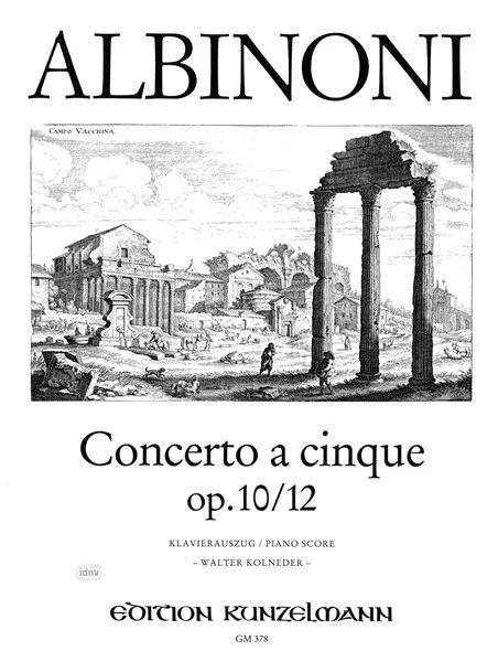 Concerto a cinque B-dur op. 10/12 from Tomaso Albinoni