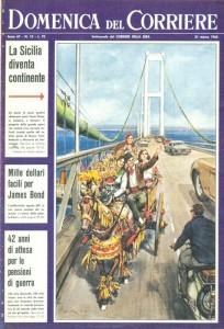 domenica del corriere ponte stretto
