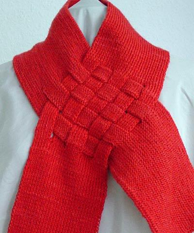 Flechtschal, braided scarf