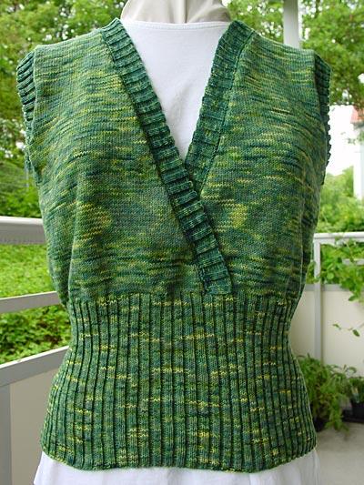 Wickeleffekt-Pullunder, wrap-style vestover