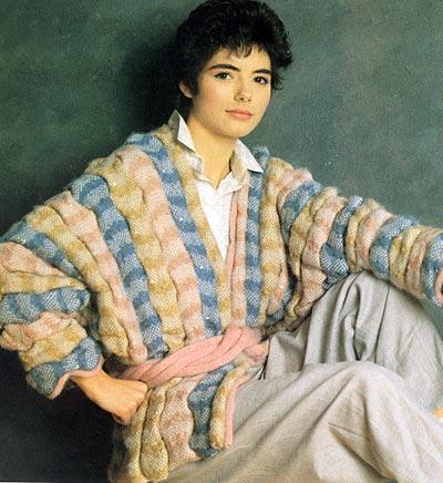 Jacke mit hochgezogenen Maschen, jacket with ruched pattern