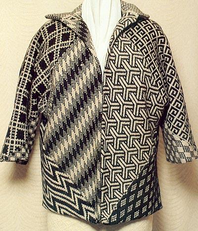 Jacke aus zehn Quadraten, 10 squares jacket