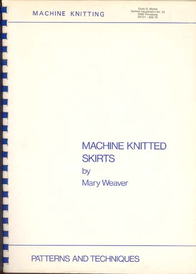 Mary Weaver, Machine knitted skirts