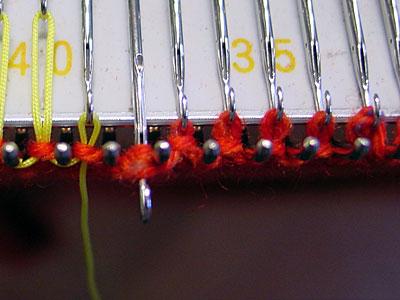 Maschen und Umschläge, stitches and wraps