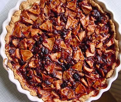 Preiselbeer-Apfel-Tarte