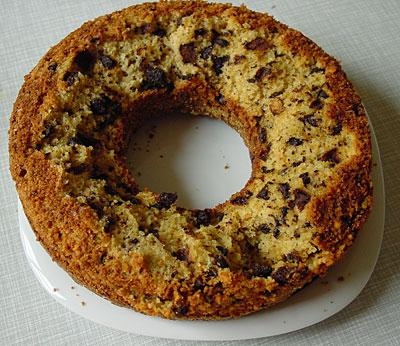 Mandel-Schokoladen-Kuchenruine