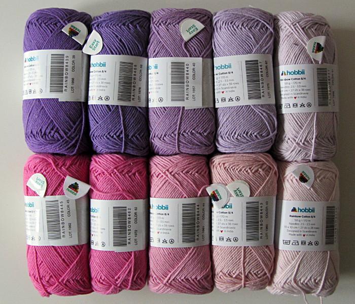 Hobbii Qualität Rainbow Cotton 8/4