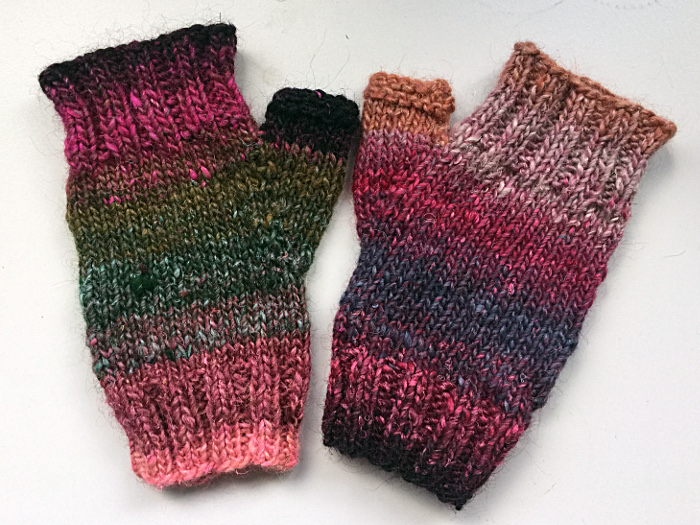 Fingerlose Handschuhe, erste Version