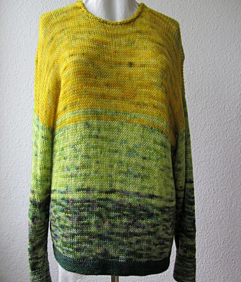 lose gestrickter Pullover aus Sockenwolle