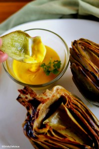 Braised Artichoke with Blender Hollandaise via StrictlyDelicious
