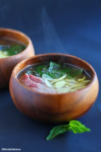 Easy Zucchini Noodle Beef Pho via StrictlyDelicious.com