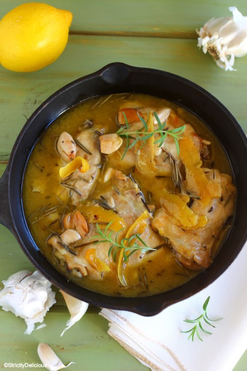 Slow Cooker Stewed Rosemary Garlic Chicken | StrictlyDelicious.com