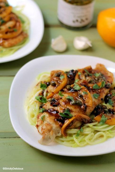 Gluten-Free Chicken Piccata | StrictlyDelicious.com