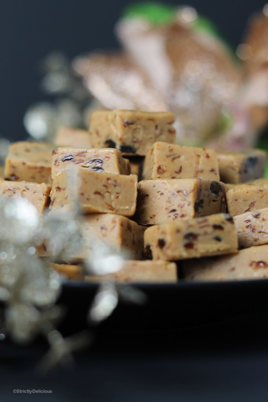 Easy Rum Raisin Fudge | StrictlyDelicious.com