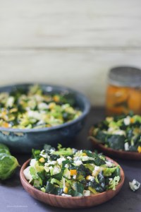 Winter Greens Salad with Preserved Lemon and Blue Cheese | StrictlyDelicious.com