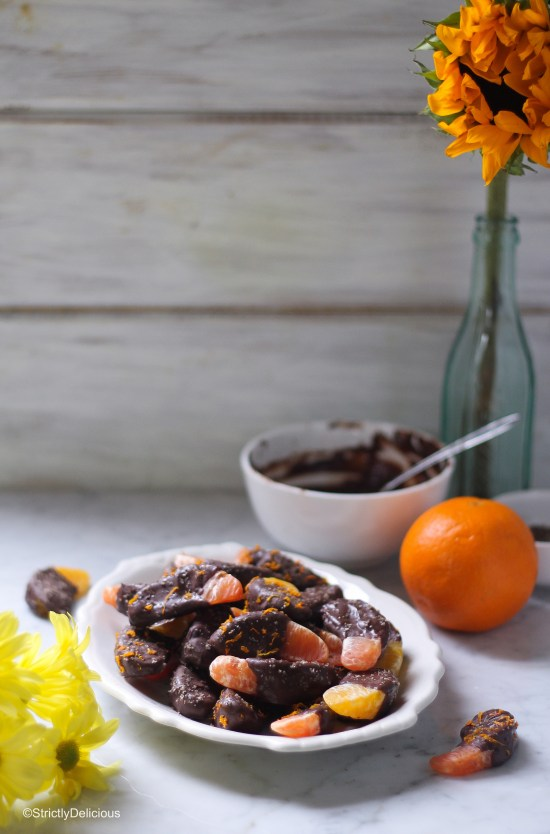Spicy Chocolate-Covered Oranges with Smoked Salt | StrictlyDelicious.com