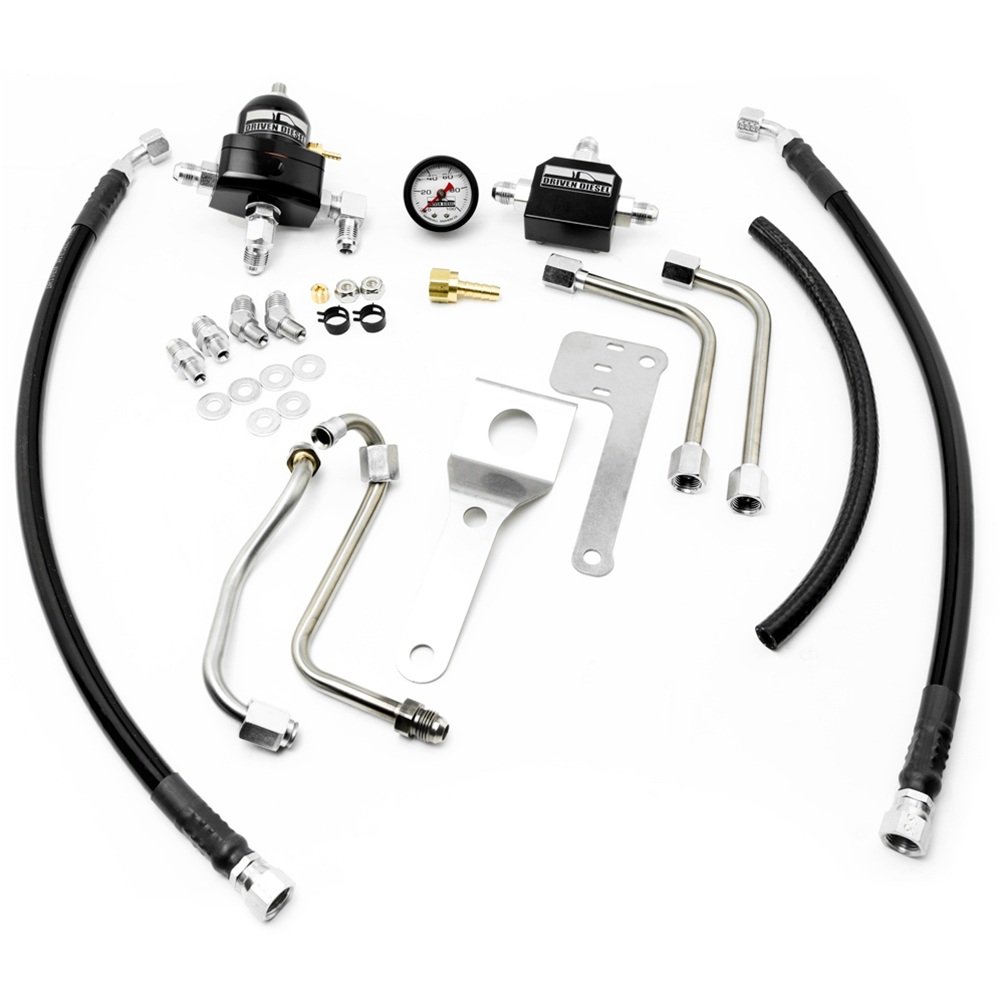 medium resolution of driven diesel 7 3l fuel bowl delete regulated return fuel system kit