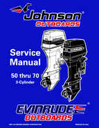 1998 Johnson Evinrude EC 50 thru 70 HP 3Cylinder Service