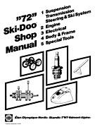 1972 SkiDoo Shop Manual